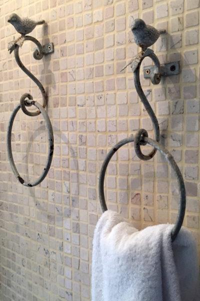 Residenza Pajara Curte asciugamani bagno | Casa Vacanze in affitto Salento Feudo Frammasi